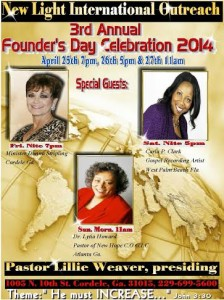 3rd Annual Founder's Day @ New Light International Outreach | Cordele | Georgia | United States