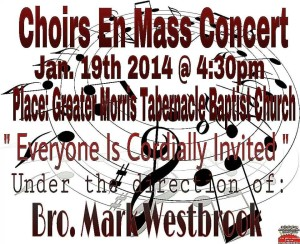 Choirs en Mass Concert  @ Greater Morris Tabernacle Baptist Church
