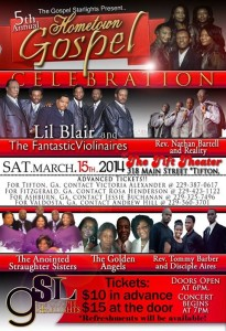 5th Annual Gospel Hometown Celebration @ Tift Theatre | Tifton | Georgia | United States